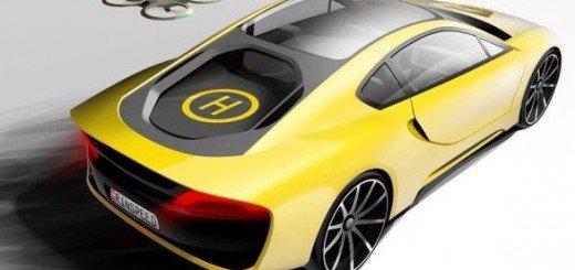 Fame in auto? Ordina via app e consegna il drone con Rinspeed Ethos